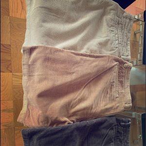 Corduroy board shorts.